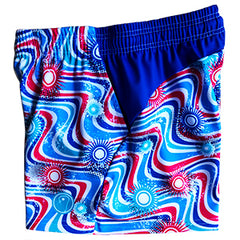Girls Lacrosse Shorts - Wavy Blue