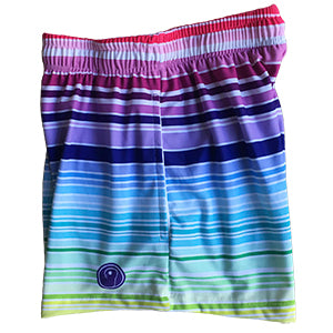 Girls Lacrosse Shorts - Rainbow Stripe