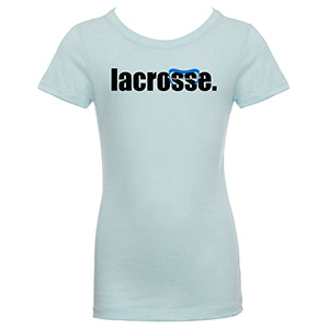 Girls LACROSSE Goggle T-Shirt - Blue