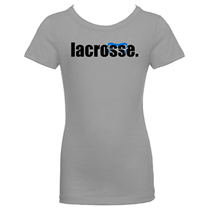Girls LACROSSE Goggle T-Shirt - Gray