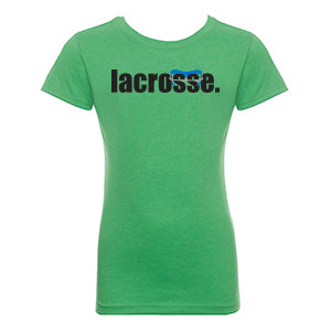 Girls LACROSSE Goggle T-Shirt - Green