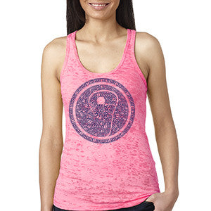 Womens Lacrosse Icon Racer Back Tank - Pink