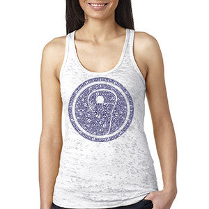 Womens Lacrosse Icon Racer Back Tank - White