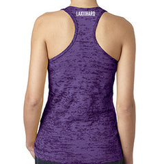 Womens Lacrosse Icon Racer Back Tank - Purple