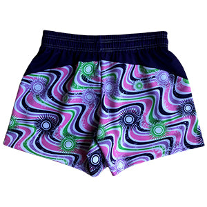 Girls Lacrosse Shorts - Wavy Purple