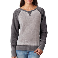 Womens Lacrosse Colorblock Fleece Sweatshirt - Black
