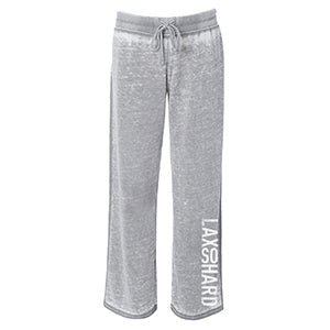 Womens Lacrosse Burnout Fleece Sweatpants - Gray