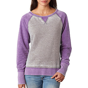 Womens Lacrosse Colorblock Fleece Sweatshirt - Purple