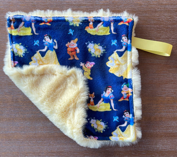READY TO SHIP - Soother Blanket -Cinderella/Yellow Seal