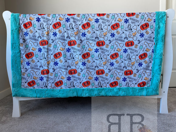 READY TO SHIP - Child Size Throw - Healthcare Hero/Breeze