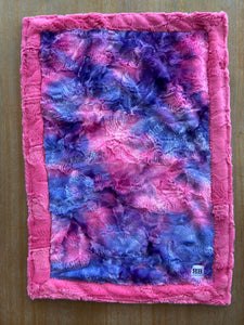 READY TO SHIP - Car seat Blanket - Razzle Dazzle Sorbet on Carnation Hide