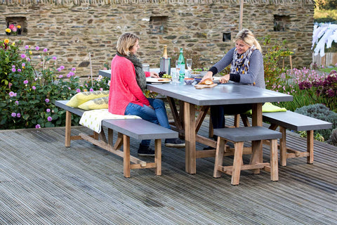 Eating Outside On Decking