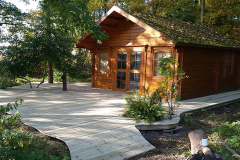 Woodland Cabin With Decking