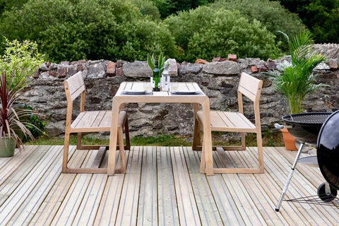 Garden Furniture On Decking