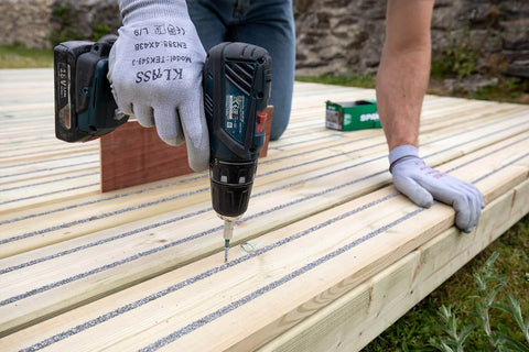 Installing Non-Slip Decking with a Drill