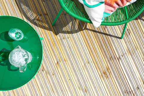 Green Outdoor Furniture on Non-Slip Softwood Decking
