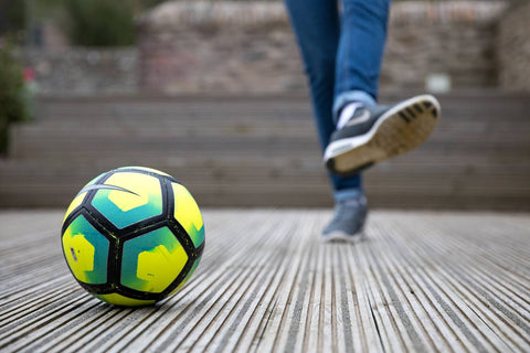 Playing Football On Decking