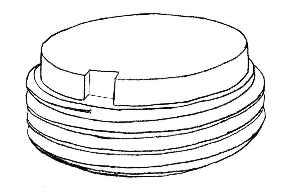 Sketch of Height Adjustor 20mm for Decking Sub Frame