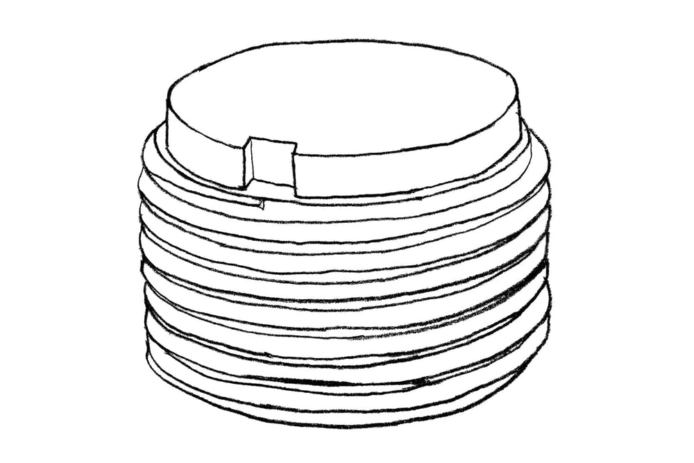 Sketch of Height Adjustor 40mm for Decking Sub Frame