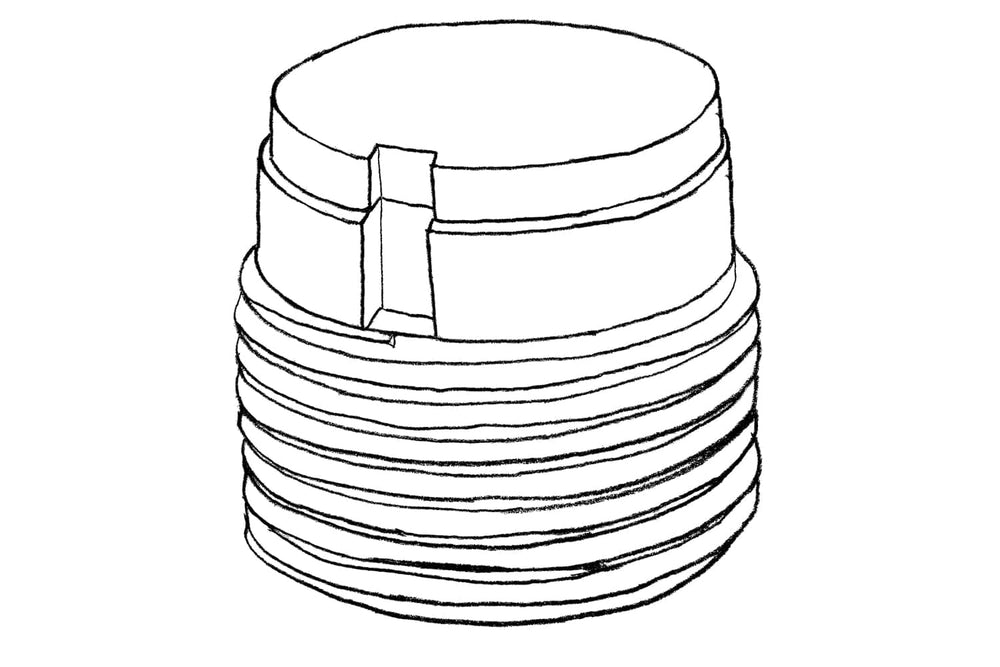 Sketch of Height Adjustor 60mm for Decking Sub Frame