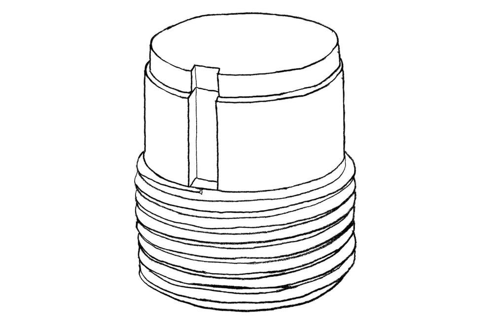 Sketch of Height Adjustor 80mm for Decking Sub Frame