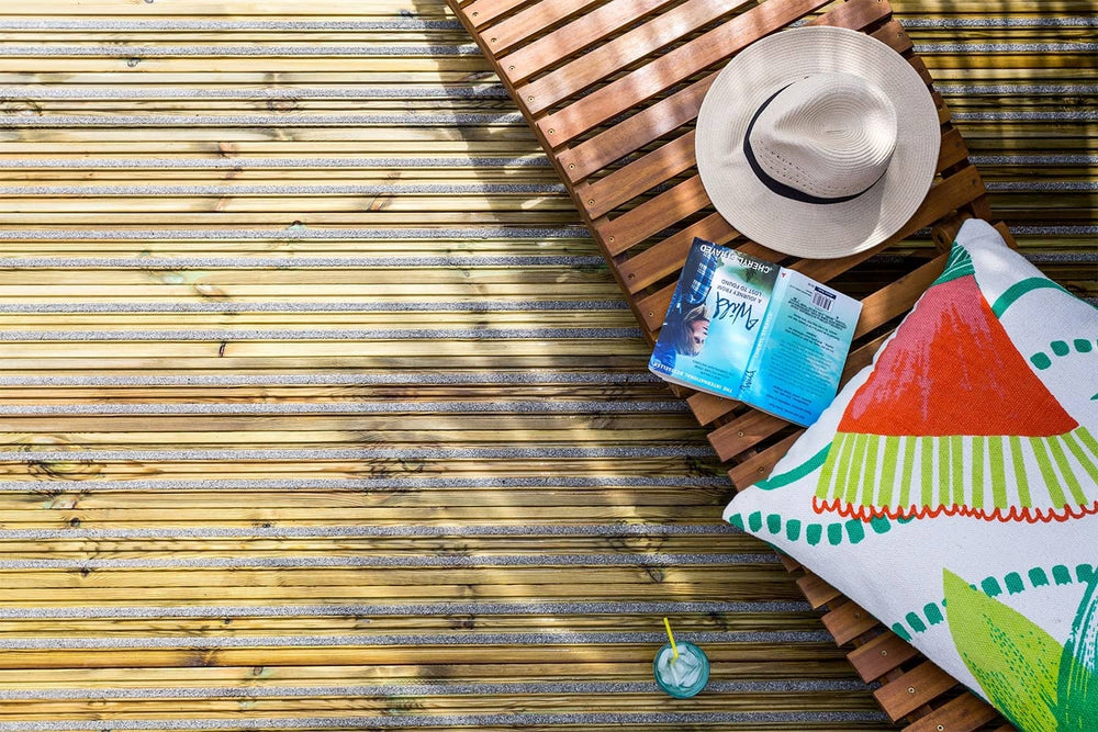Load image into Gallery viewer, Gripsure Home Non-Slip Garden Decking With Sunlounger