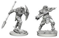 D&D Nolzur`s Unpainted Minis: Dragonborn Fighter with Spear