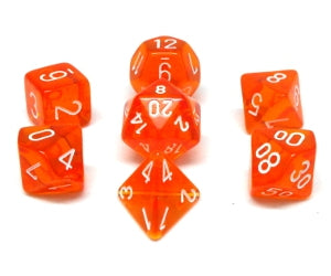 7-Die Set Translucent: Orange/White