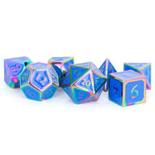 7-Die Set Metal: Rainbow with Blue Enamel