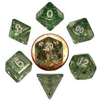7-Die Set Ethereal: 10mm (mini) Green/White