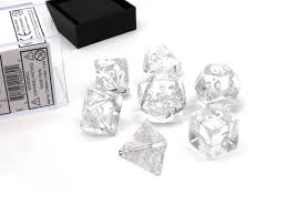 7-Die Set Translucent: Clear/White