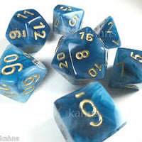 7-Die Set Phantom: Teal/Gold