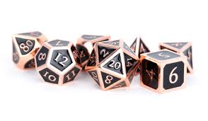 7-Die Set Metal: Antique Copper with Black Enamel