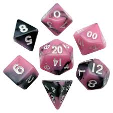 7-Die Set Combo: 10mm (mini) Pink-Black/White