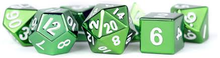 7-Die Set Metal: Green Painted