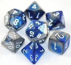 7-Die Set Gemini: Blue-Silver/White