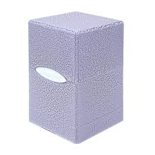Satin Tower Deck Box: Ivory Crackle