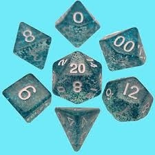 7-Die Set Ethereal: 10mm (mini) Light Blue/White