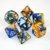 7-Die Set Gemini: Blue-Gold/White