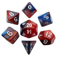 7-Die Set Ethereal: 10mm (mini) Red-Blue/White