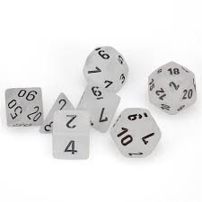 7-Die Set Frost: Clear/Black