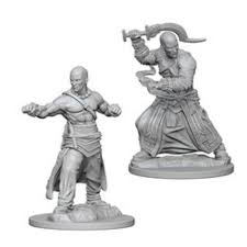 Pathfinder Unpainted Minis: Human Male Monk
