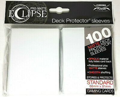 Pro-Matte Eclipse 2.0 Sleeves: Arctic White (100)