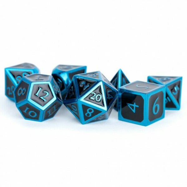 7-Die Set Metal: Blue with Black Enamel