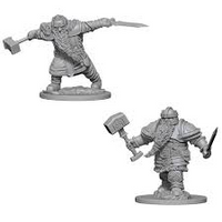 D&D Nolzur`s Unpainted Minis: Dwarf Male Fighter