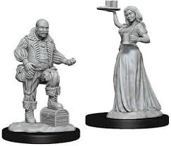 Pathfinder Minis: Wave 3- Merchants (Serving Girl/Merchant)