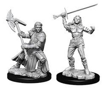 D&D Nolzur`s Unpainted Minis: Female Half-Orc Fighter