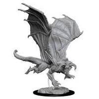 D&D Nolzur`s Unpainted Minis: Young Black Dragon