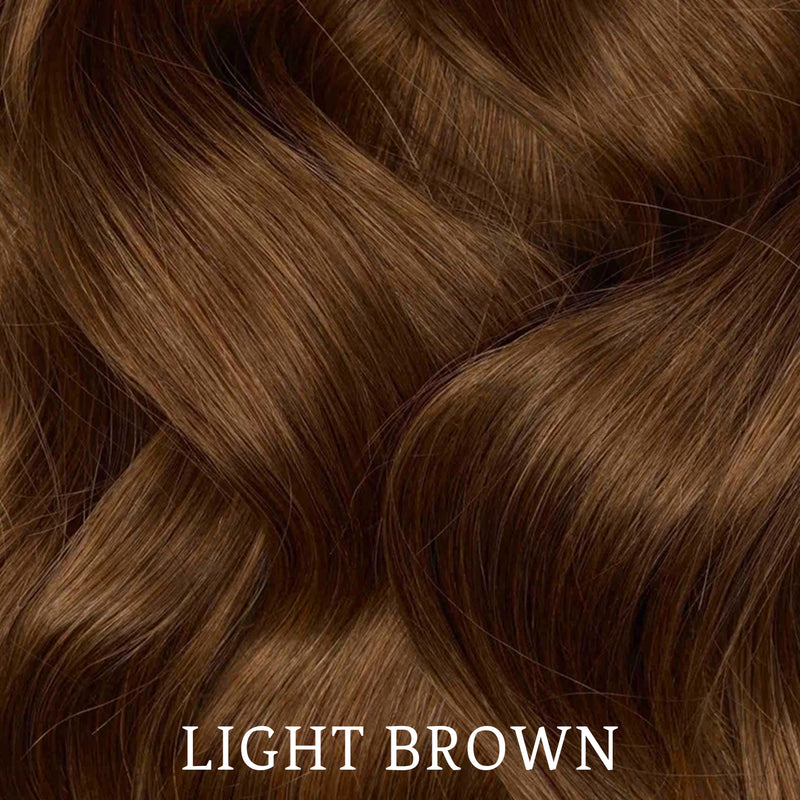 Pixie cut Dark Brown wavy Toupee Topper Hairpiece