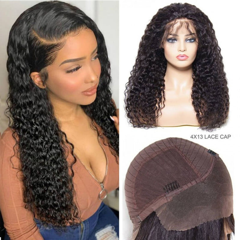 Long Curly Wig Lace  Wig 100% Virgin Human Hair